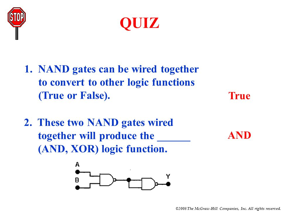 Function of and or not nand