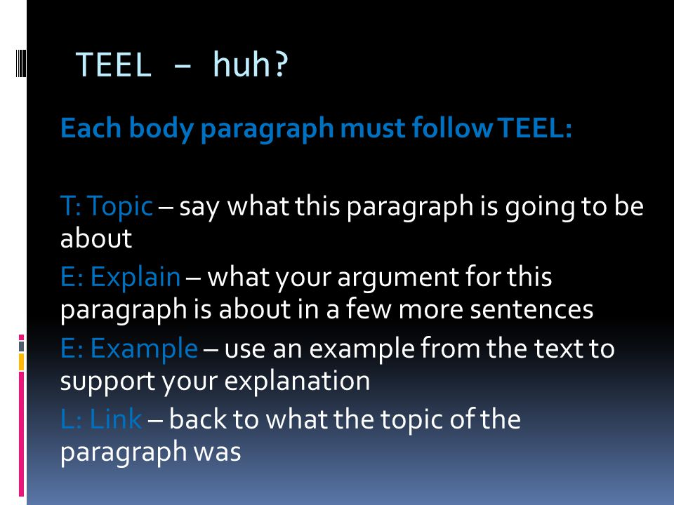 text response essay structure - teel 2012-6-13  year 7 english - text response essay  also guide you through the correct structure needed for essay writing you will  the  silver donkey  your essay (teel.