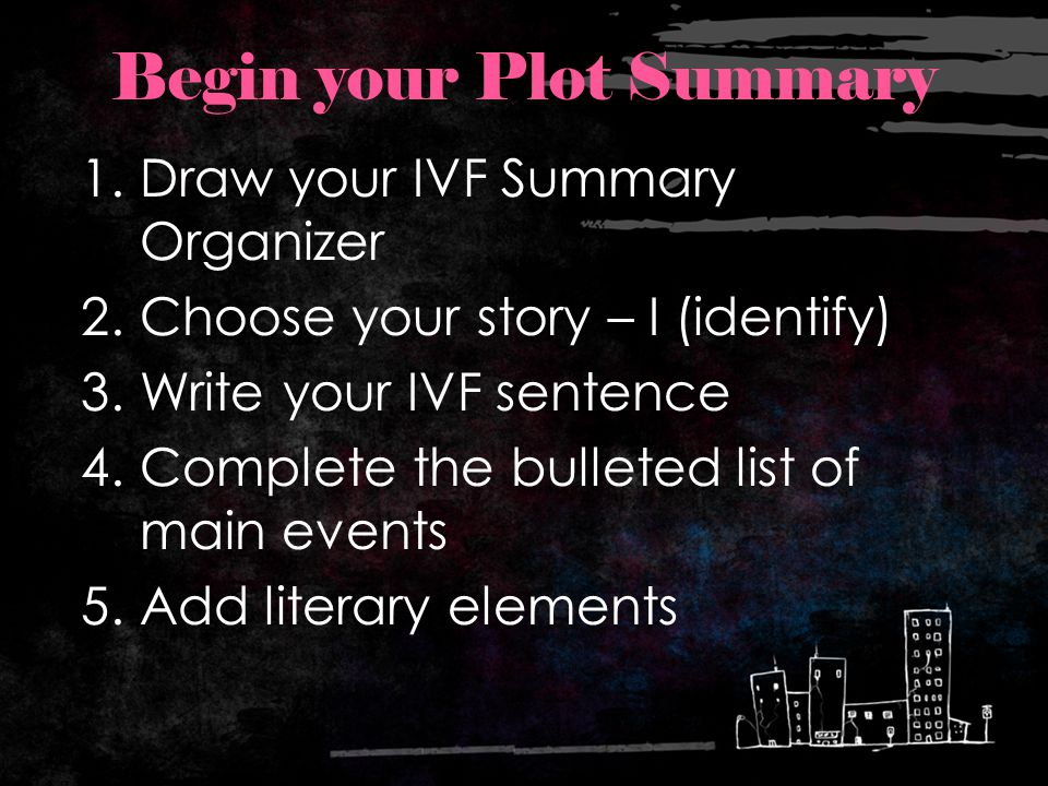 Begin your Plot Summary
