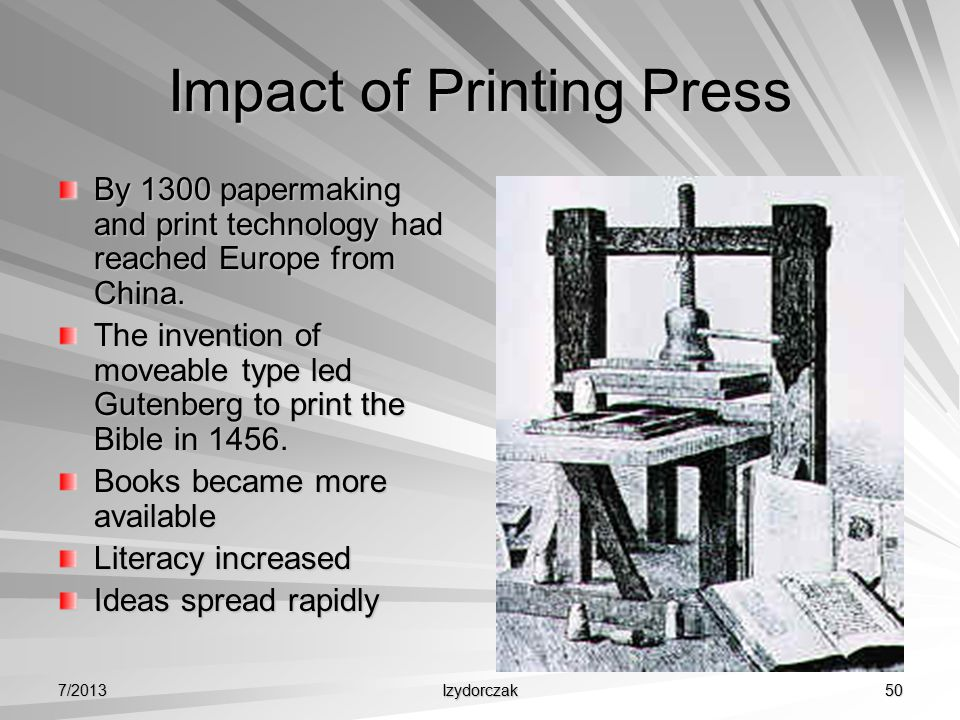 the invention and development of printing press before the middle ages The printing press was developed in the late middle ages by johannes gutenberg around the year 1440 this, together with another not entirely clear development (probably using a hand mould) by gutenberg that made the mass production of movable type practical, introduced modern printing to europe.