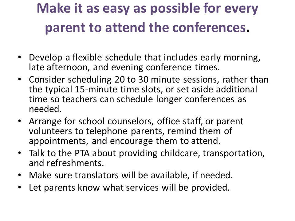 Parent- Teacher Conferences