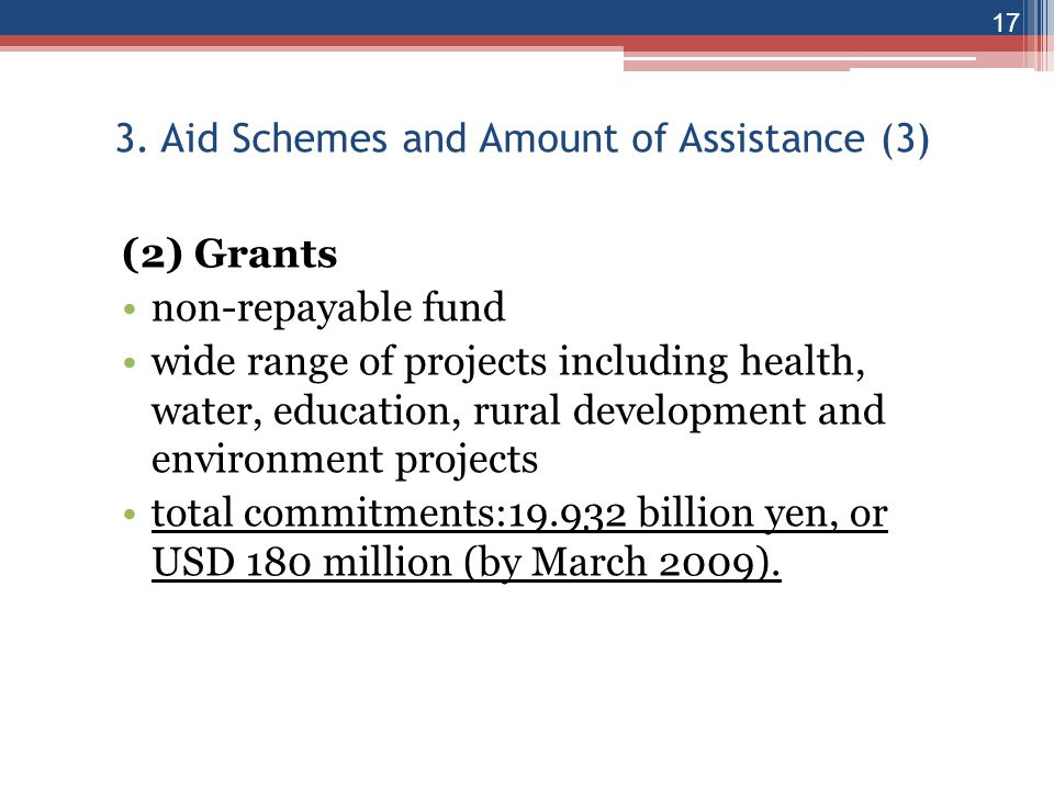 3. Aid Schemes and Amount of Assistance (3)