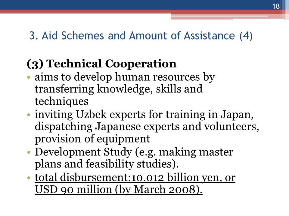 3. Aid Schemes and Amount of Assistance (4)