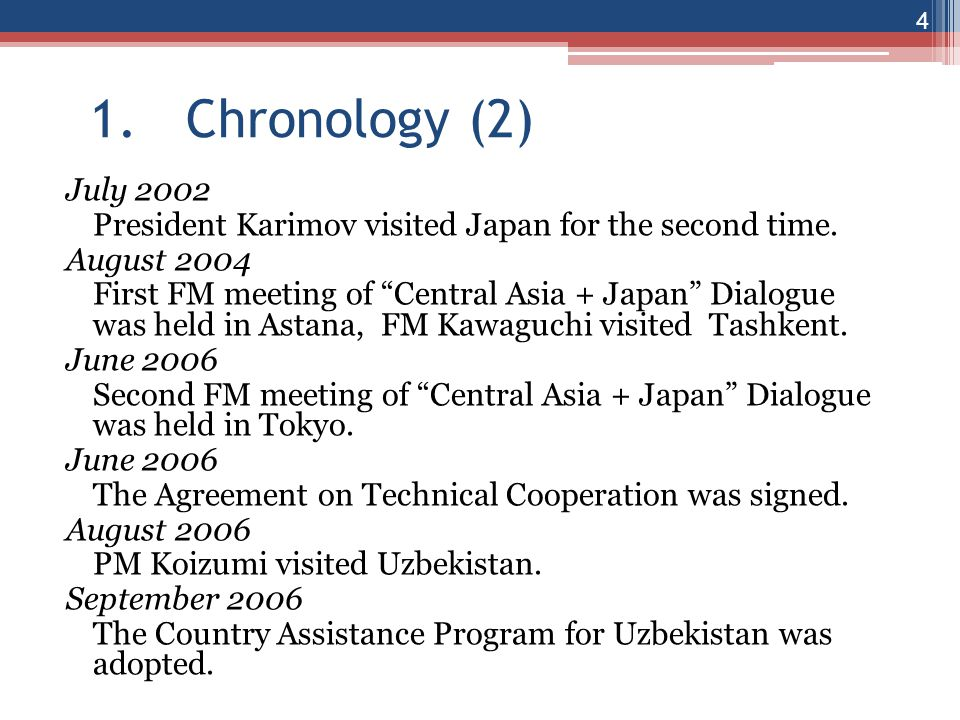 1. Chronology (2)