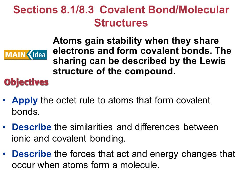 Chapter 8 – Covalent Bonding - ppt download