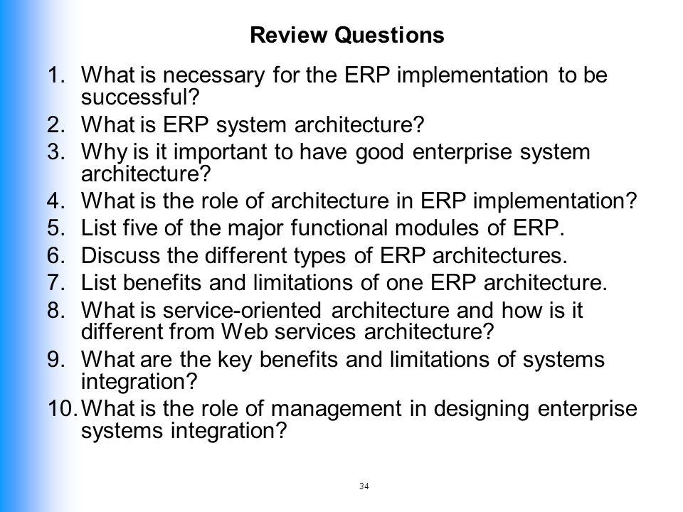 ENTERPRISE SYSTEMS ARCHITECTURE ppt download – List of Erp Systems