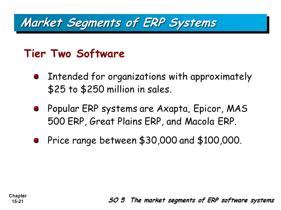 Market Segments of ERP Systems