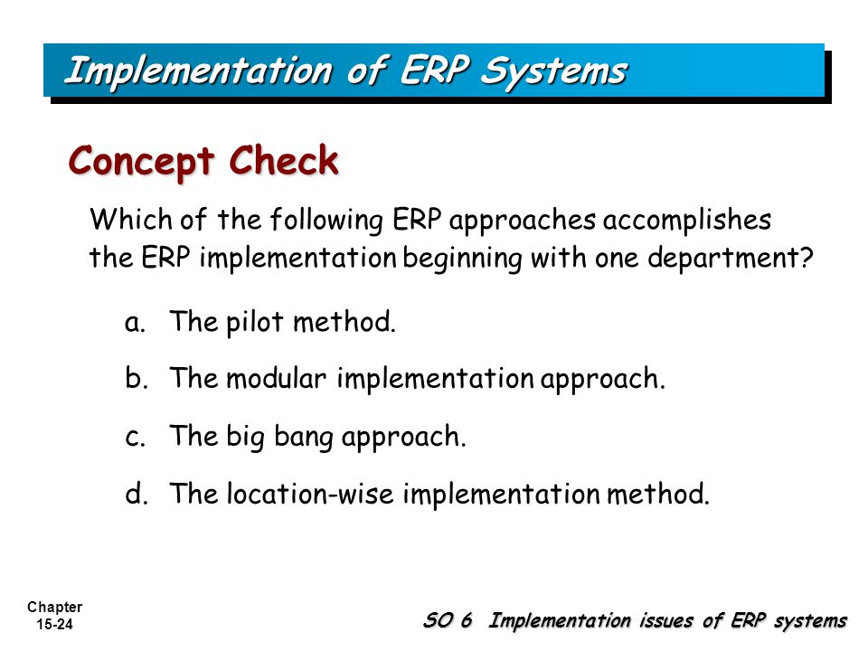 Implementation of ERP Systems