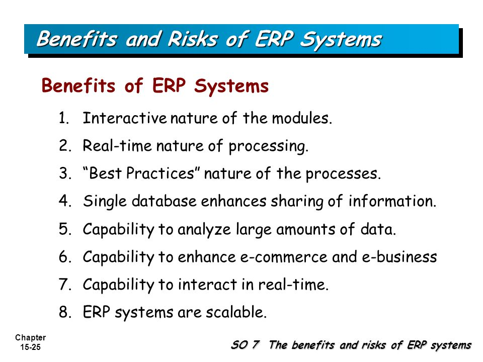 Benefits and Risks of ERP Systems