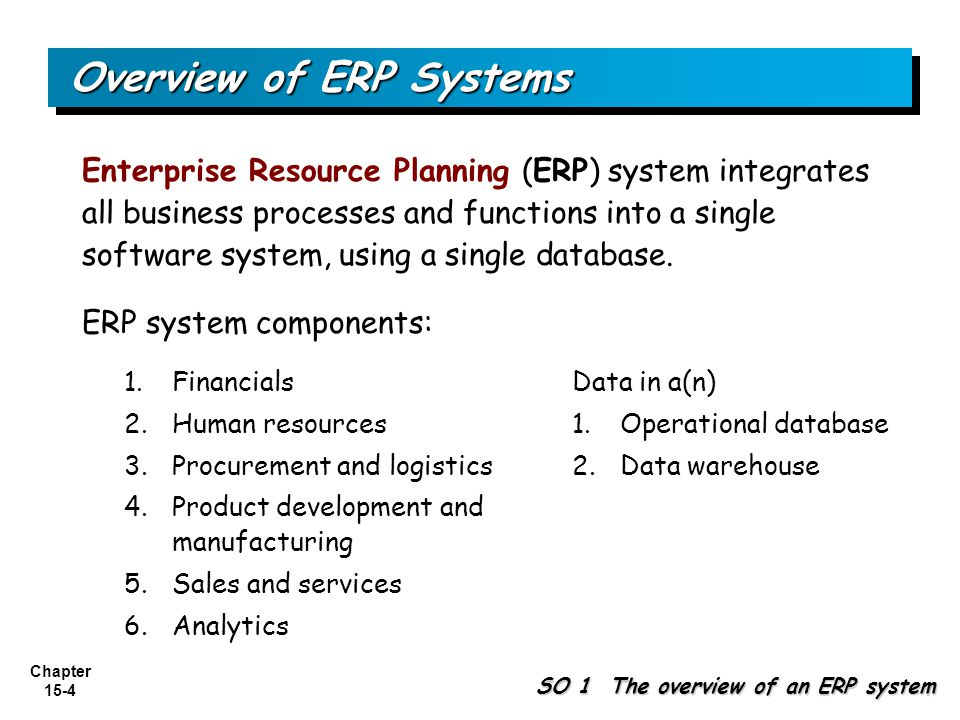 Overview of ERP Systems