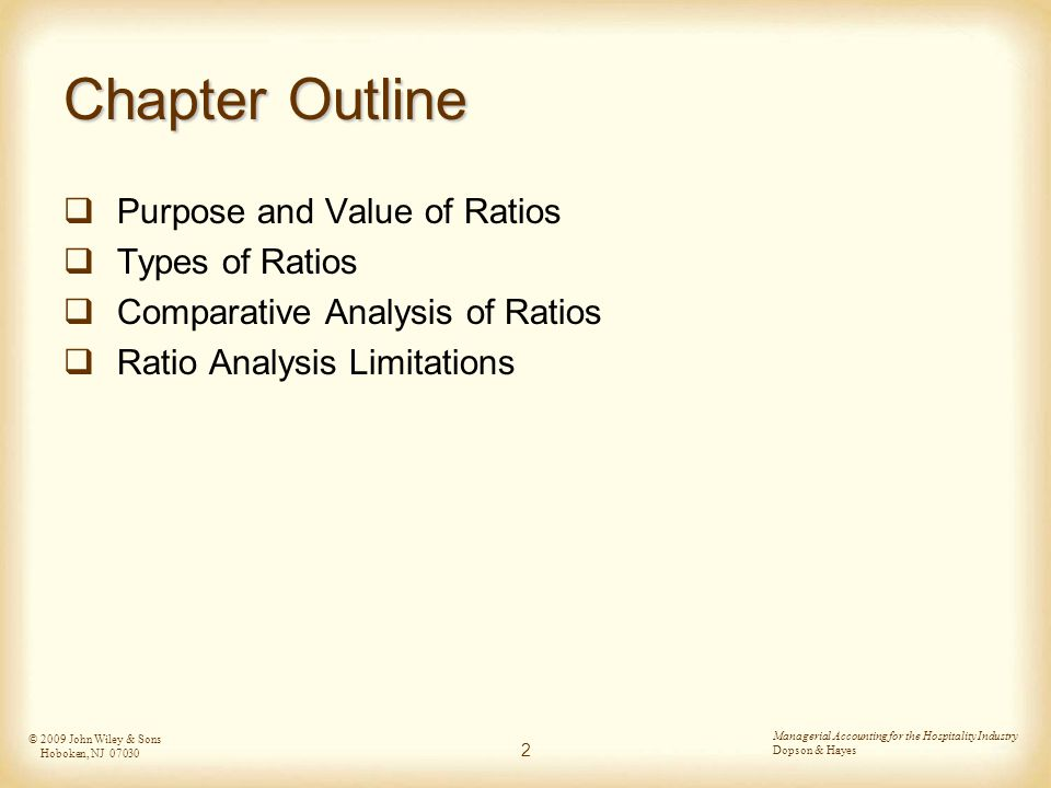 comparative ratio analysis Ratio analysis is a useful management tool that will improve your understanding of financial results and trends over time, and provide key indicators of organizational performance managers will use ratio analysis to pinpoint strengths and weaknesses from which strategies and initiatives can be formed funders may use.