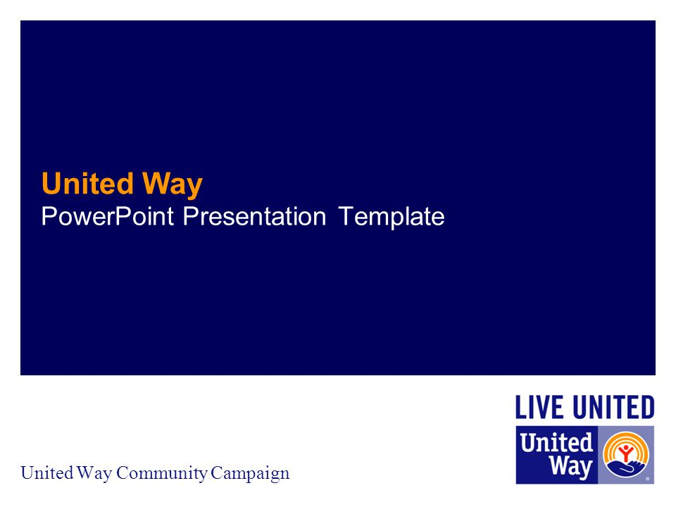 united way community campaign - ppt download, Presentation templates
