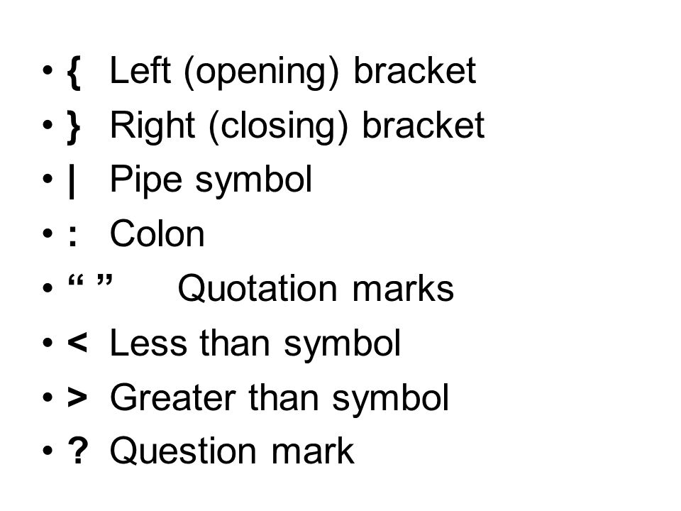 parent thesis symbol semi colon