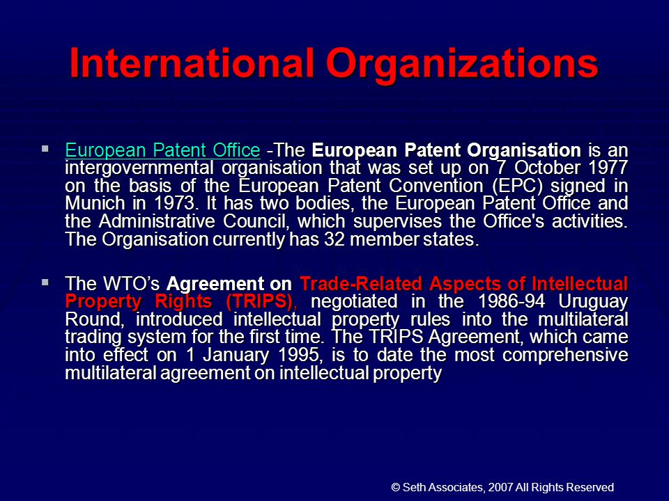 the effect of trips agreement on Effects of trips on ipr 21 trips agreement does not strive for such an optimum, rather it calls for the harmonization of ipr regulations across all wto member countries2.