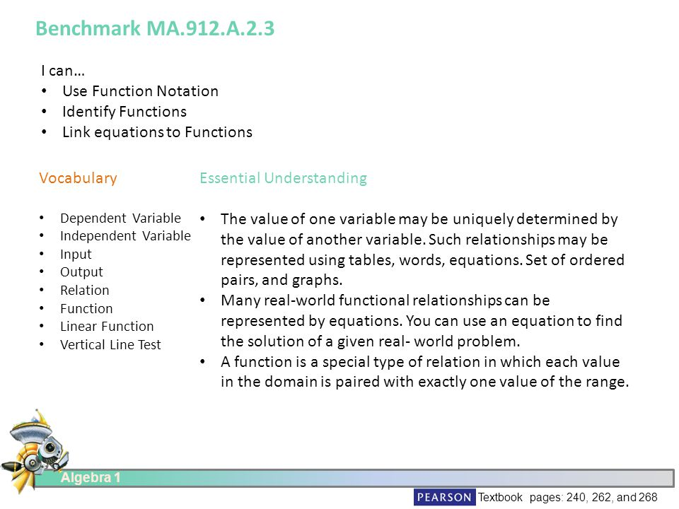 Algebra I MiniLesson MA912A ppt download – Algebra 1 Function Notation Worksheet Answers