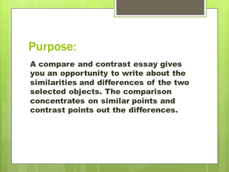 title for compare and contrast essay
