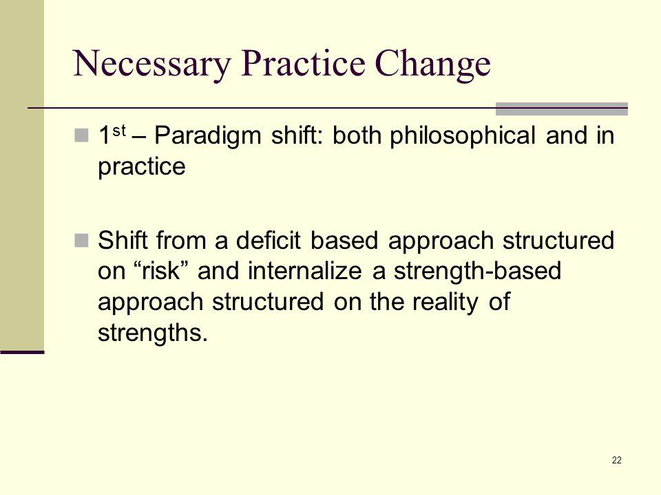 Necessary Practice Change