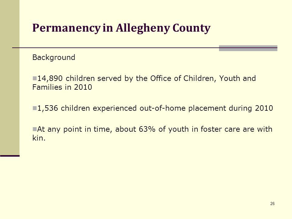 Permanency in Allegheny County