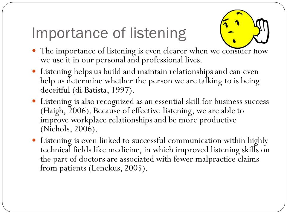 the importance of listening and the effective listening techniques