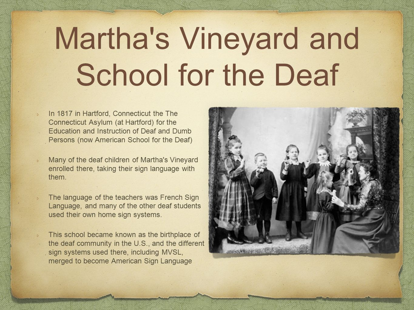 History of the deaf