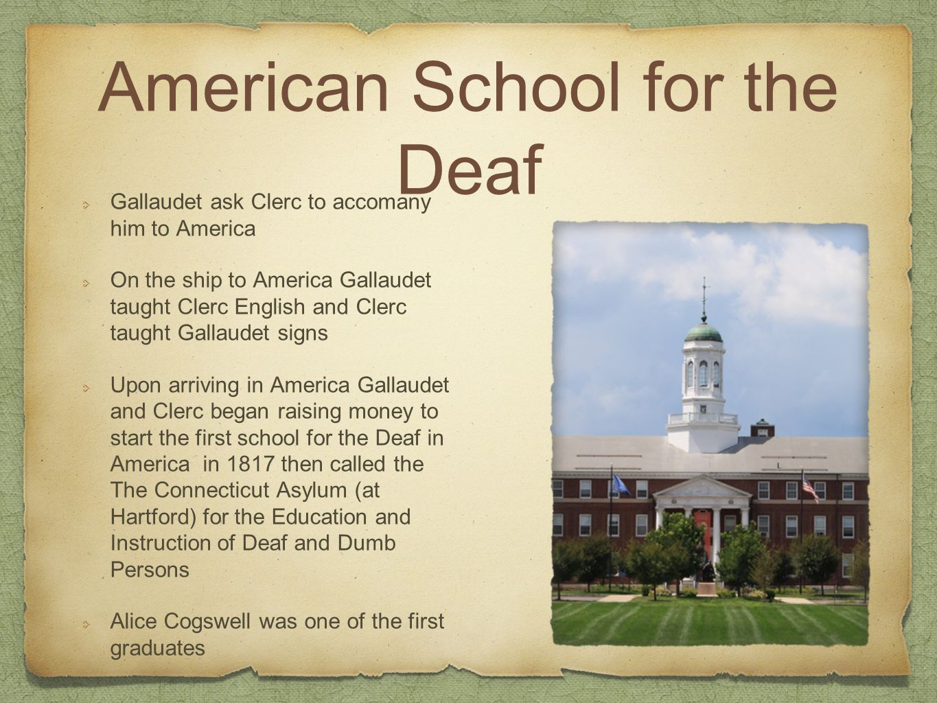 A brief history of the early days of Deaf education in the United States, 1800-1880