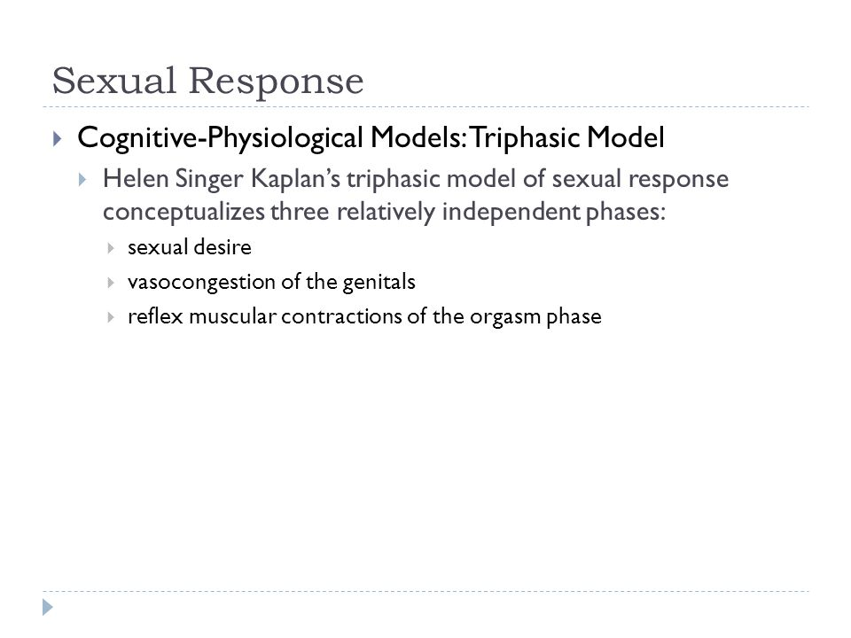 triphasic model of sexual response lay down