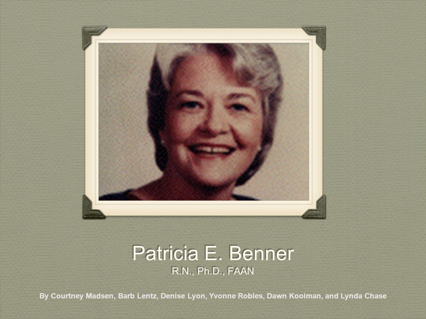 patricia e benner r n ph d faan ppt download