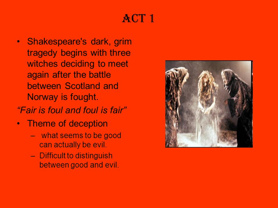 the battle between good and evil in shakespeares macbeth