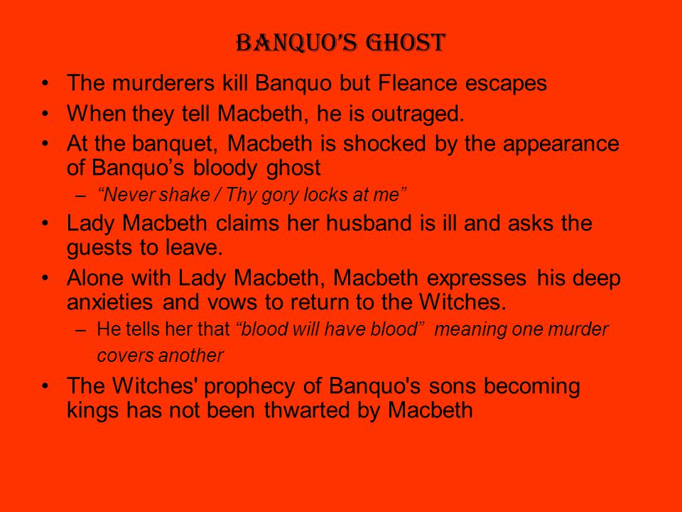different meanings of blood in shakespeares the tragedy of macbeth The banquo portrayed in earlier sources is significantly different from the banquo created by shakespeare macbeth wades through blood until his inevitable fall shakespeare's tragedy macbeth is not the unluckiest play as superstition likes to portray it.