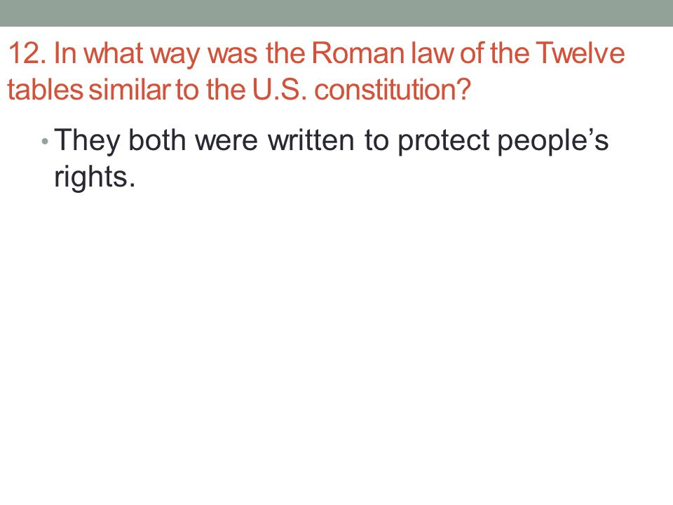 Chapter 10 the roman republic ppt download for 12 table laws