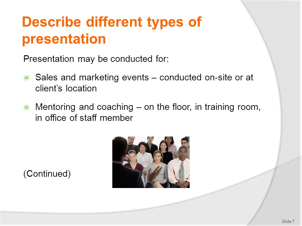 how to explain fear of making presentation