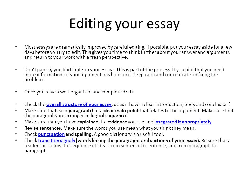 edit your essay online