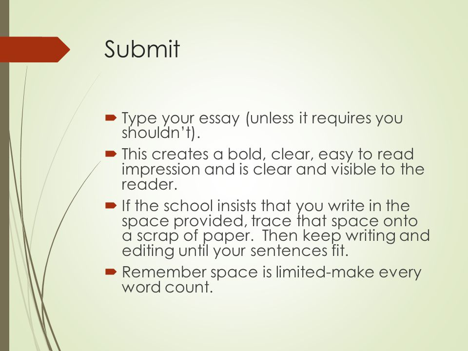 typing an essay Essays are a complicated business, but they can become less complicated if you understand the different types of essays here are the four major types.