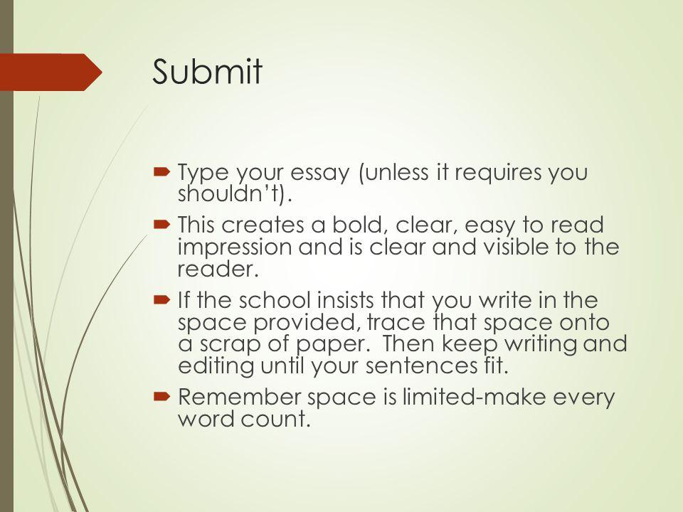 type your essay