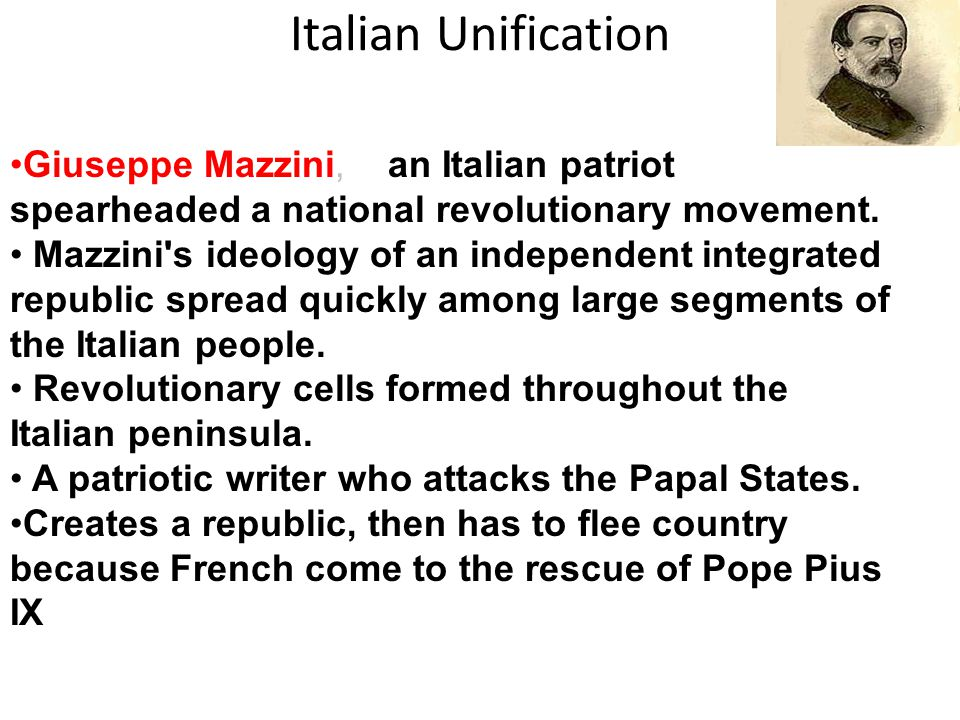 the unification of italy came by accident Giuseppe garibaldi: risorgimento who helped bring about italian unification under the royal of italy in 1861 a new kingdom of italy came into.