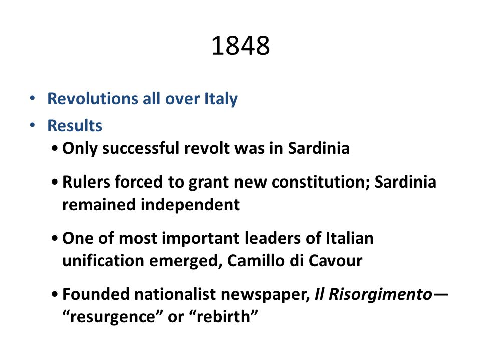 Revolutions of 1848 in the Italian states