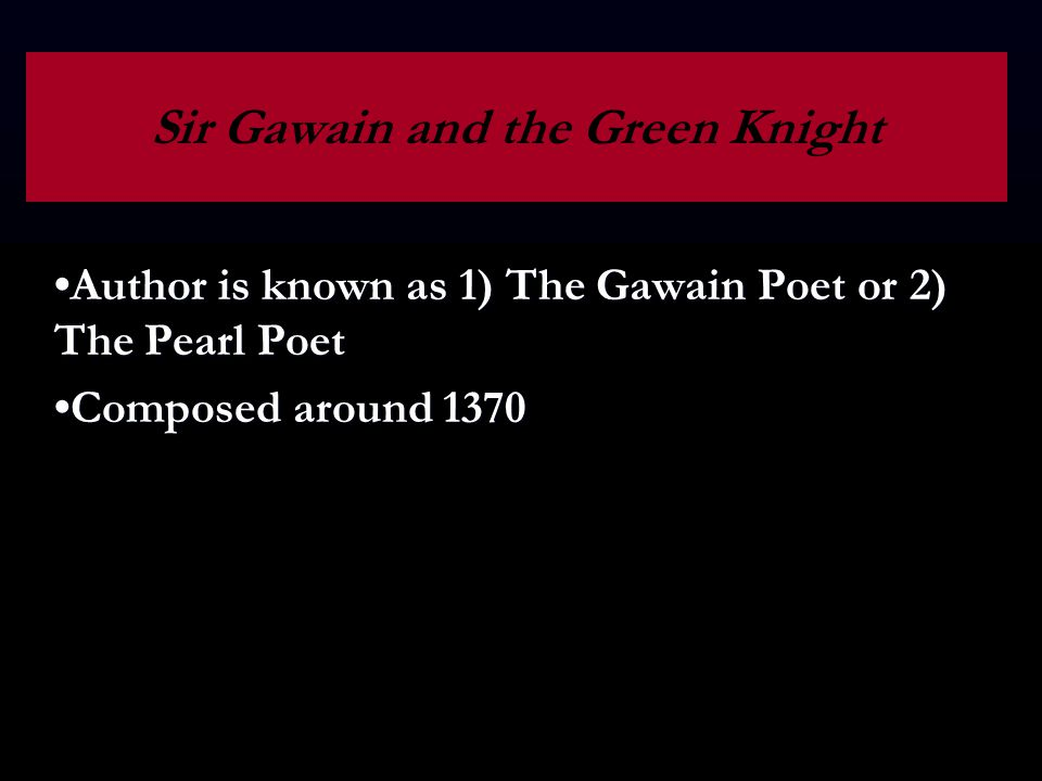 Understanding chivalry in the poem sir gawain and the green knight