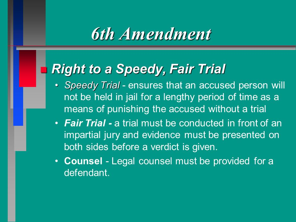 7th amendment speedy trial