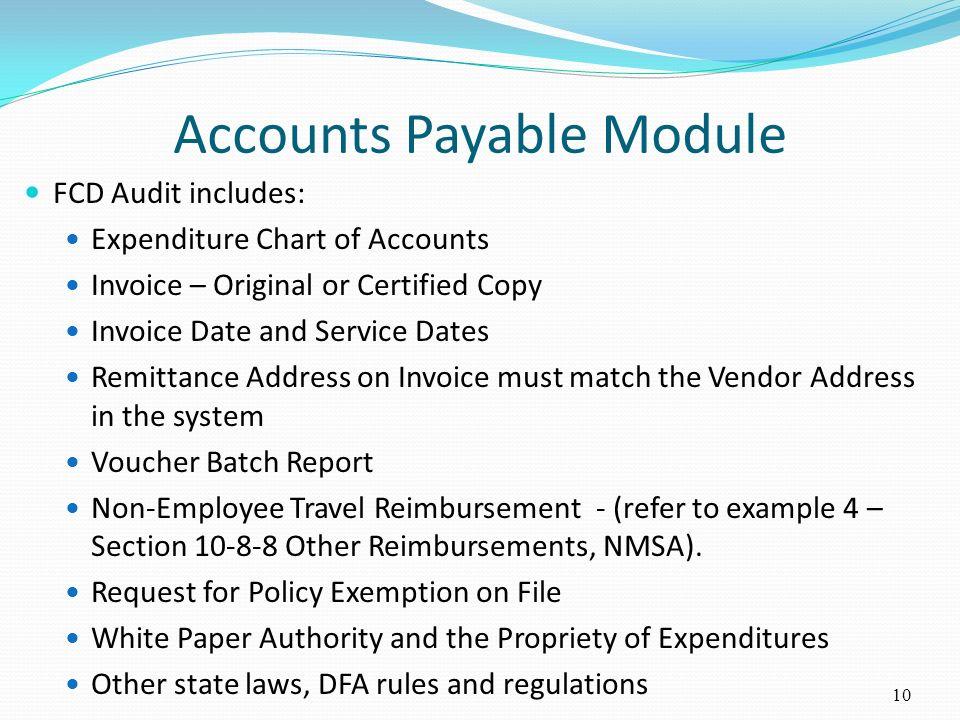 Accounts Payable Module