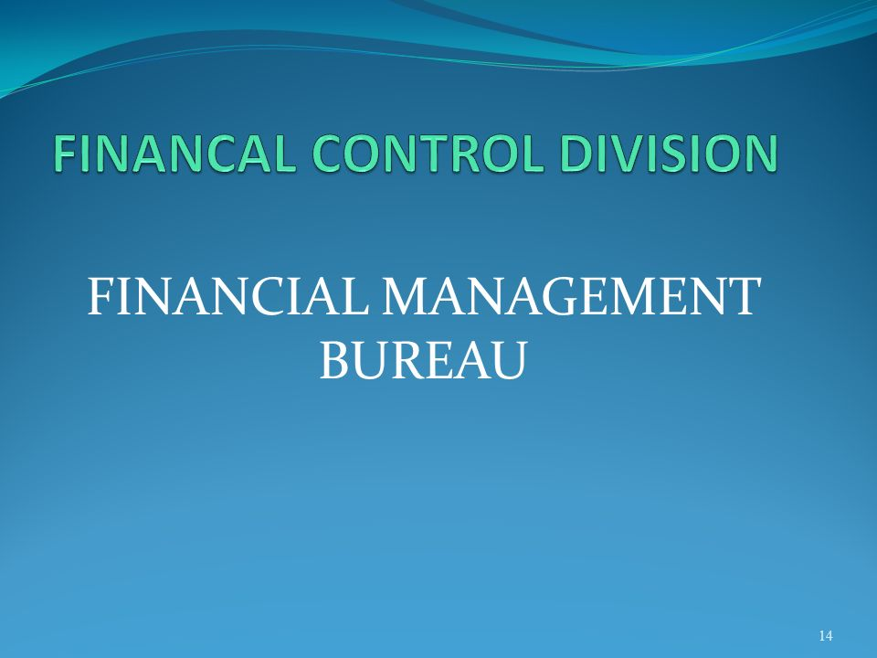 FINANCAL CONTROL DIVISION