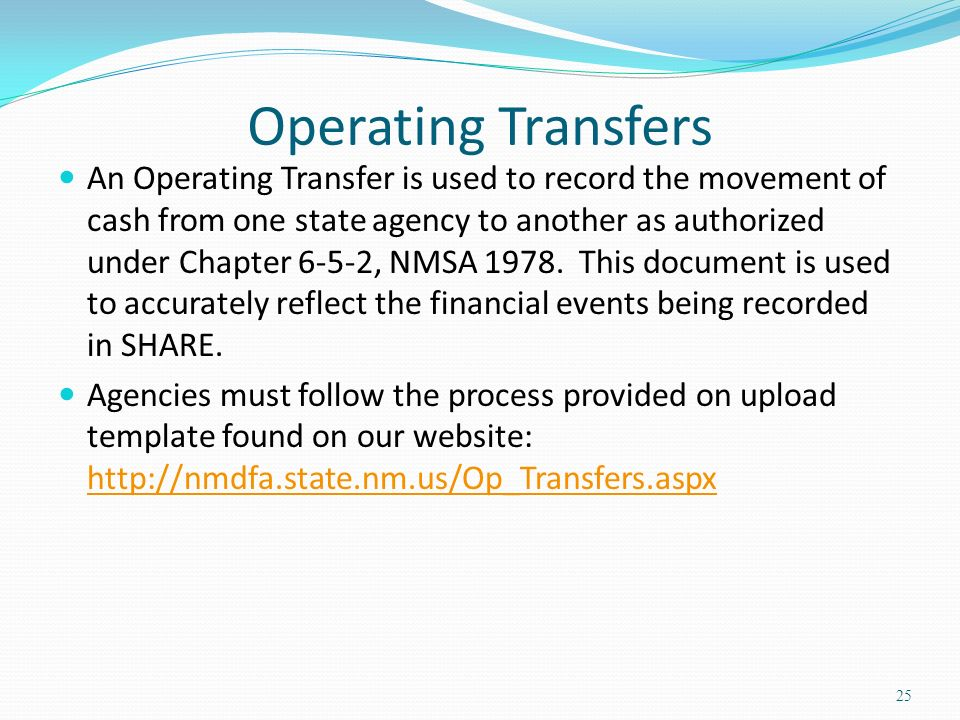 Operating Transfers
