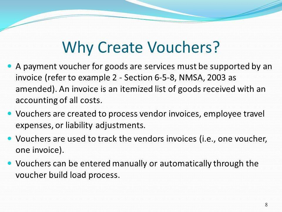 Why Create Vouchers