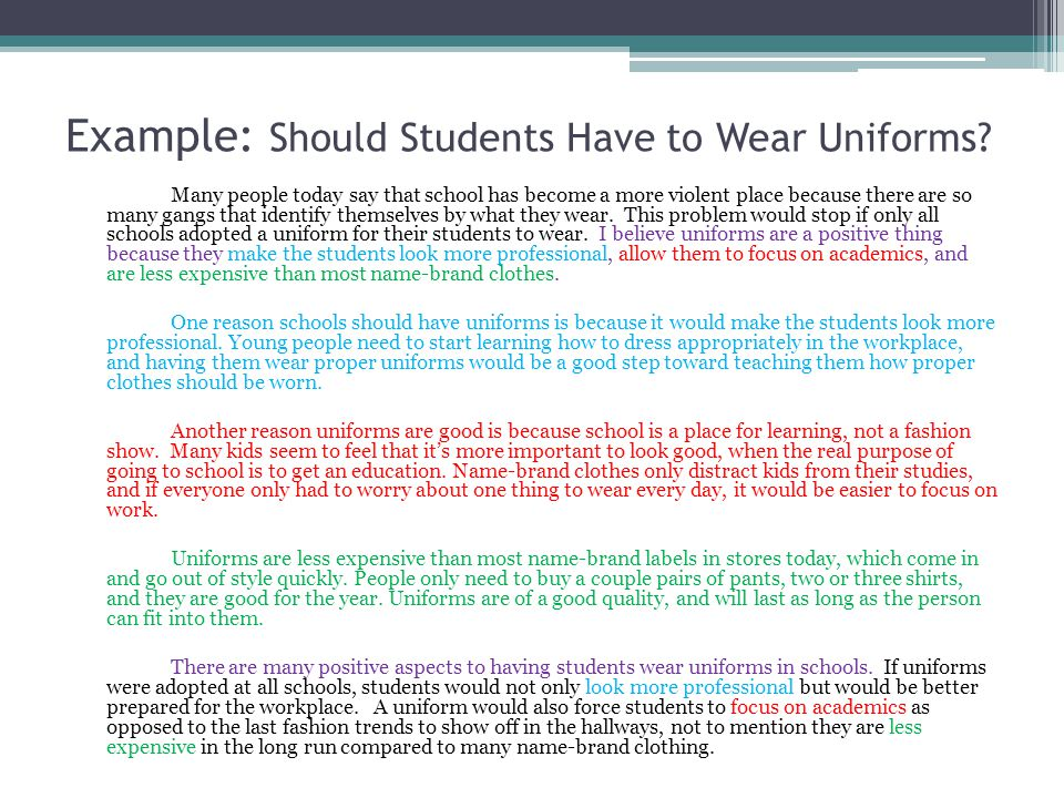 essay on why schools should not have uniforms School uniforms should not be required in my opinion students should not have to wear uniforms if they don't laugh or treat other students bad should.