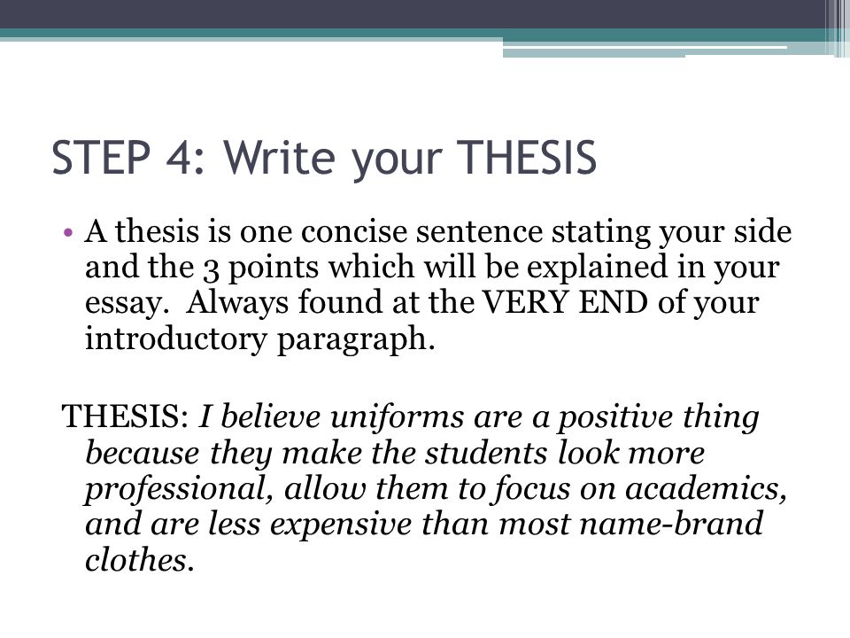 how to write a thesis sentence Having difficulty crafting a thesis statement it may be easier to write this important sentence after you get inspiration from a few solid examples.