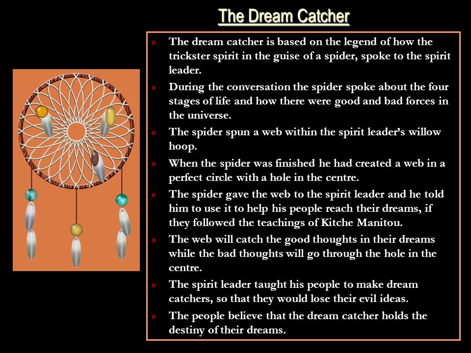 Spiritual Meaning Of Dream Catchers Native American Spirituality Ppt