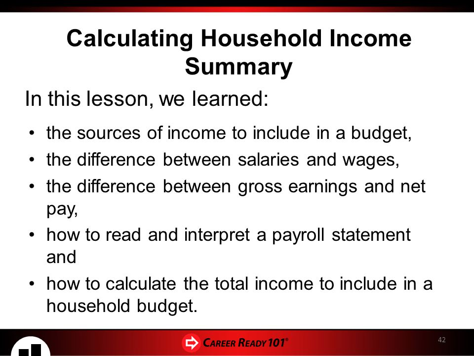 calculating household income