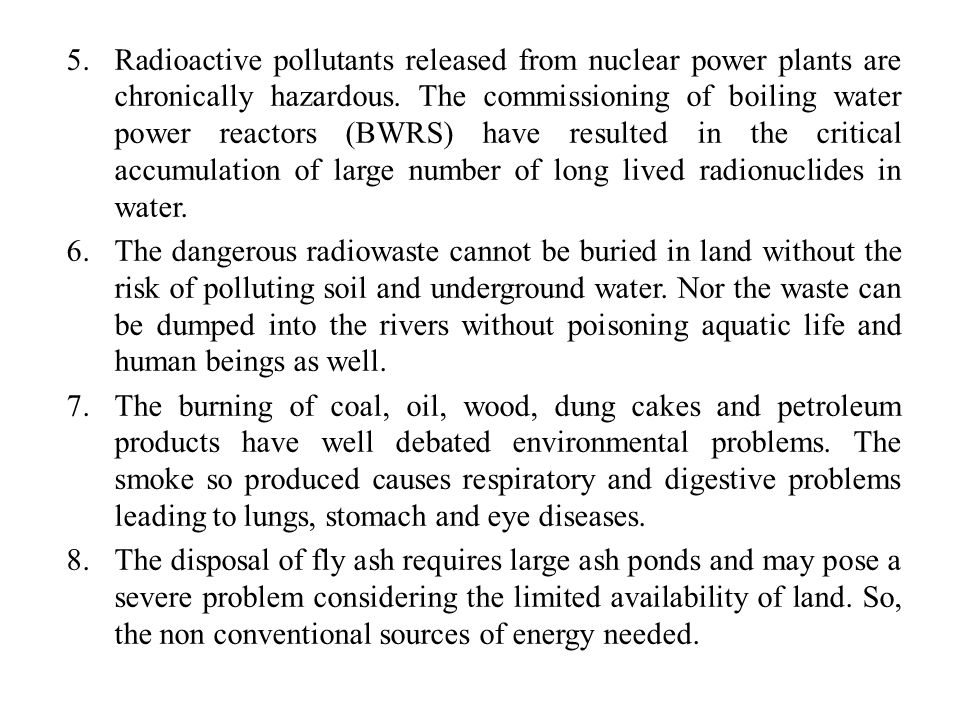 Radioactive pollutants released from nuclear power plants are chronically hazardous. The commissioning of boiling water power reactors (BWRS) have resulted in the critical accumulation of large number of long lived radionuclides in water.