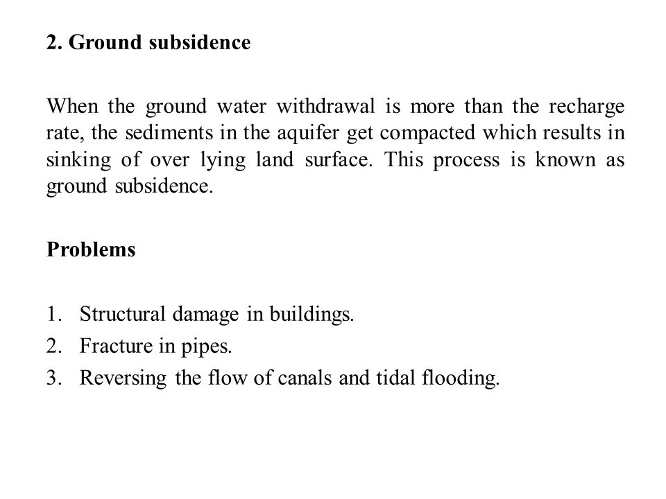 2. Ground subsidence