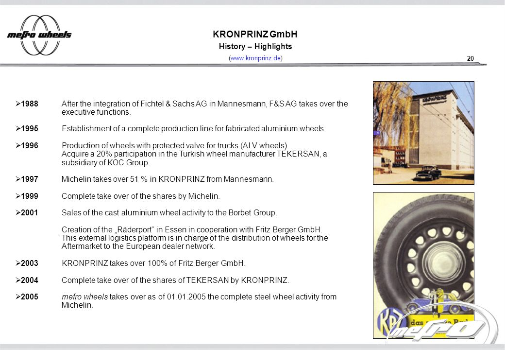 European Steel Manufacturers Sales And Distribution Companies Mail: Structure Of The Company Mefro Wheels GmbH D Rohrdorf