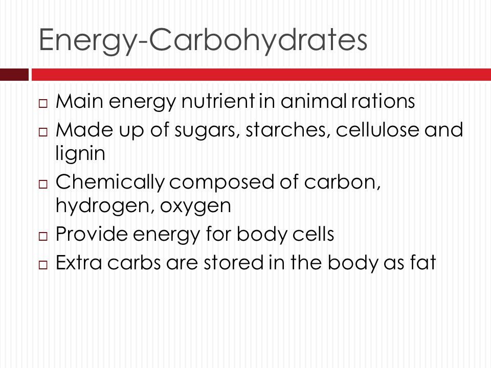 Energy-Carbohydrates